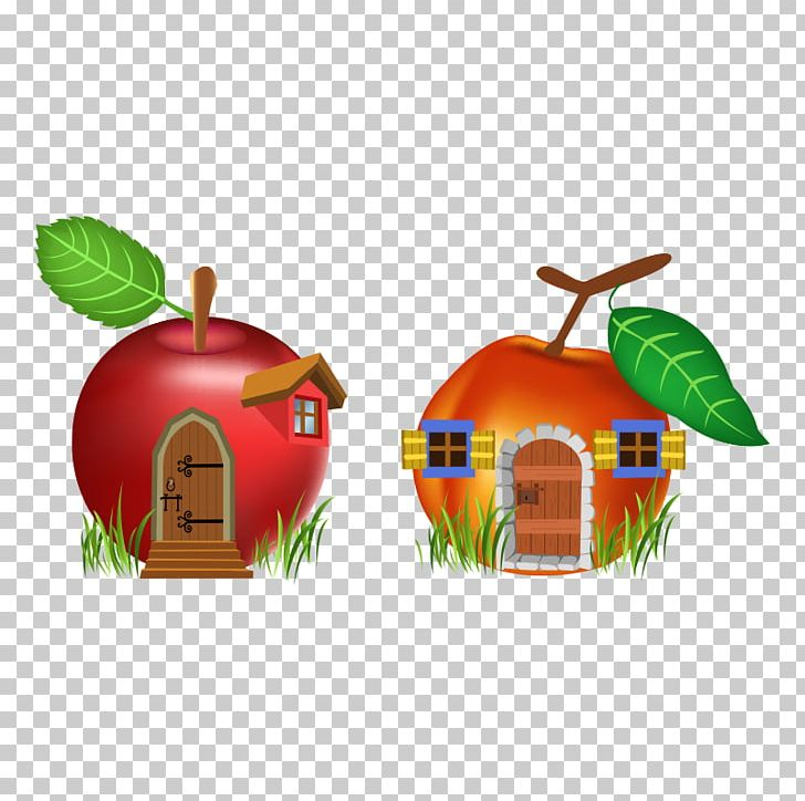 Fruit clipart house. Cartoon stock illustration png
