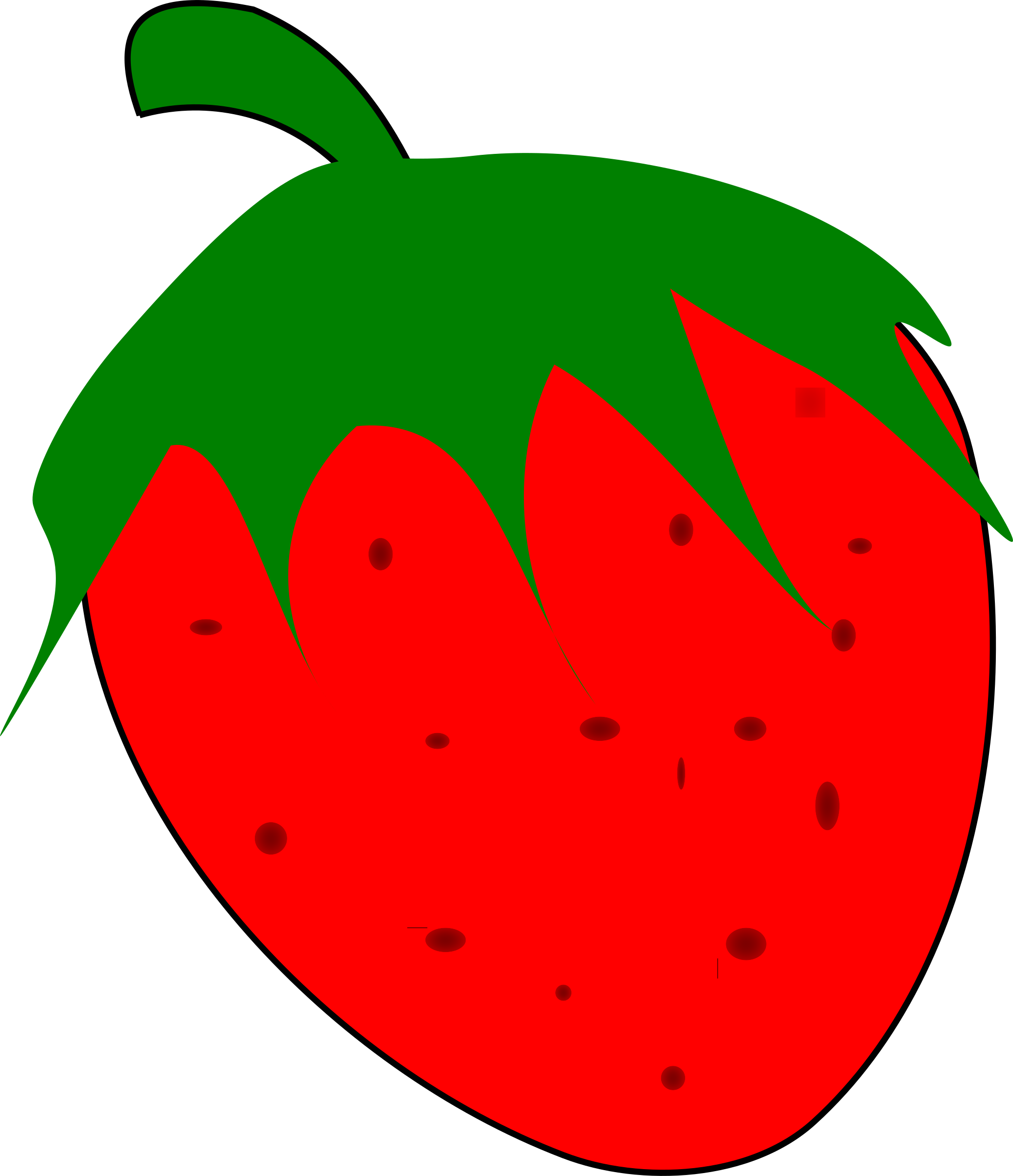 Fresa big image png. Watermelon clipart strawberry