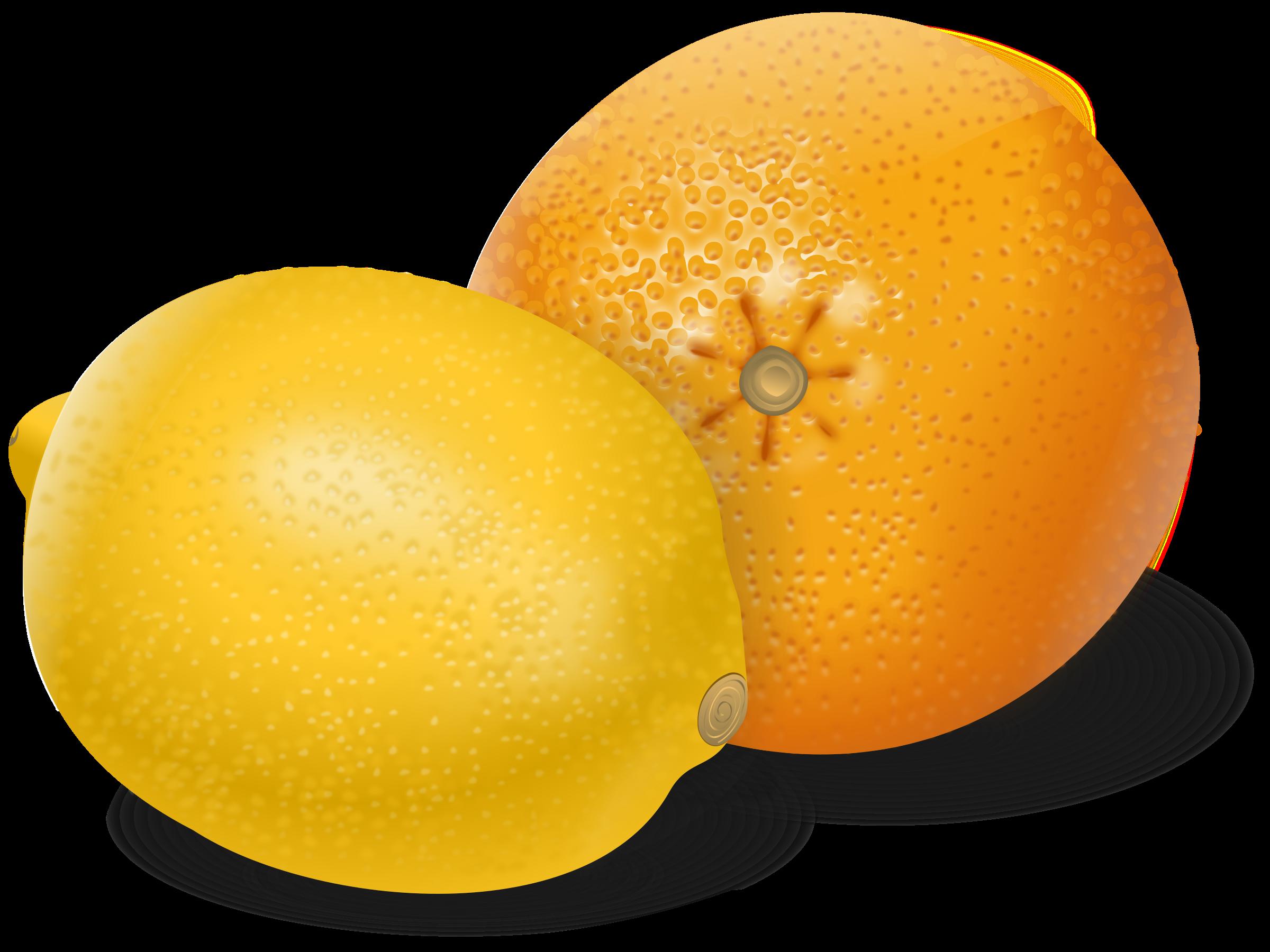Orange fruits big image. Fruit clipart lemon