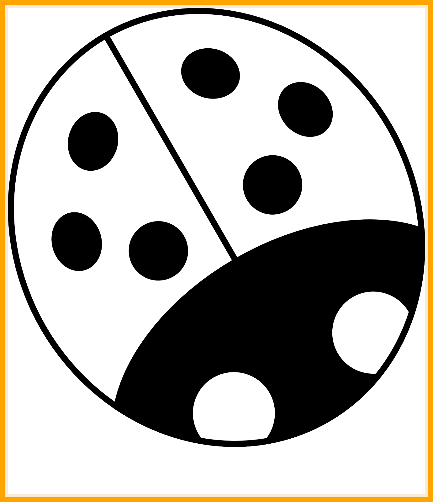 Fascinating clip art black. Ladybugs clipart cycle