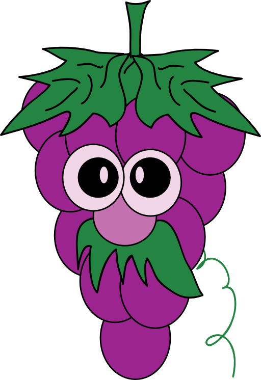 Leaf clipart face. Grapes panda free images
