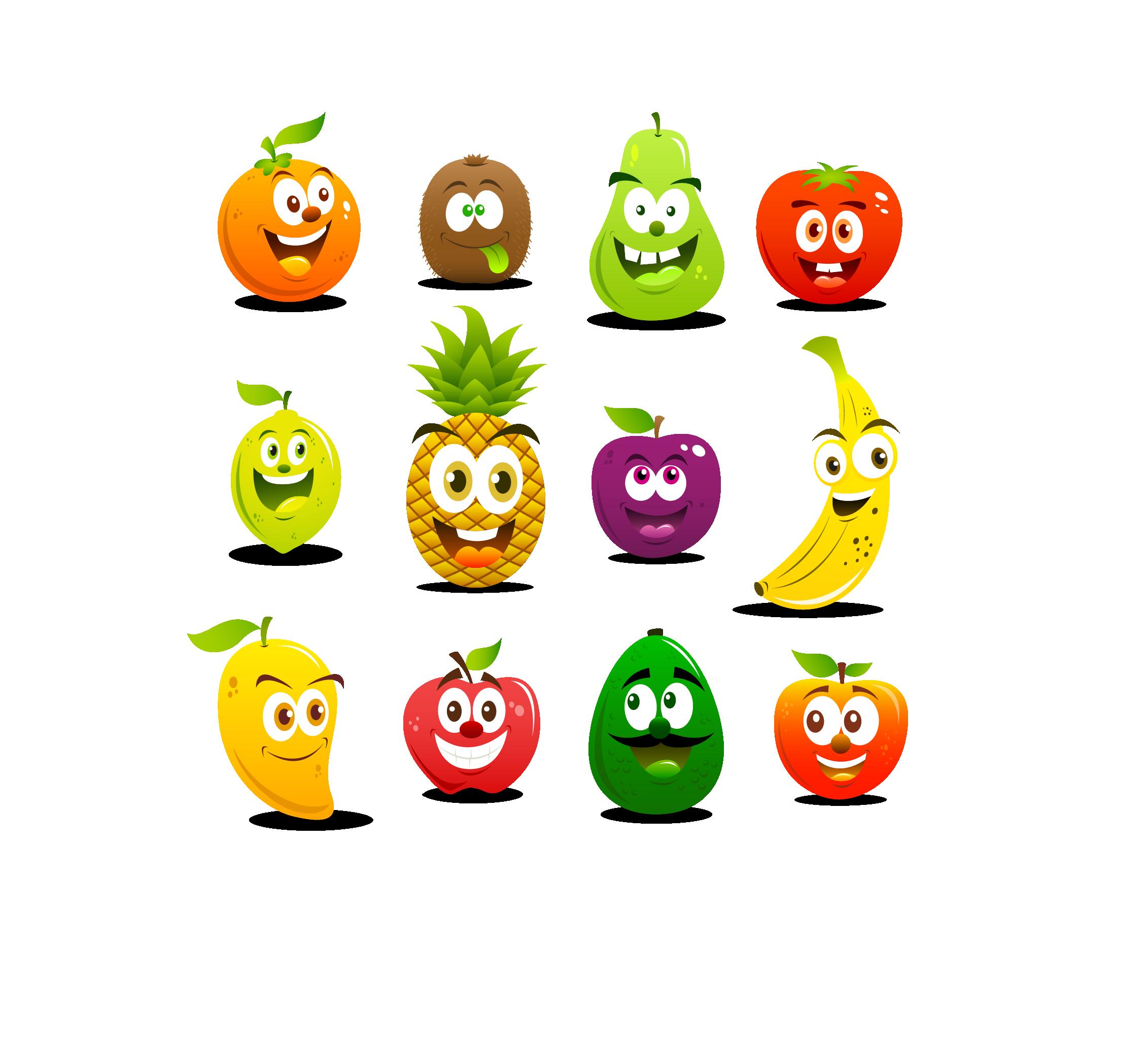 fruits huge freebie. Fruit clipart smiley