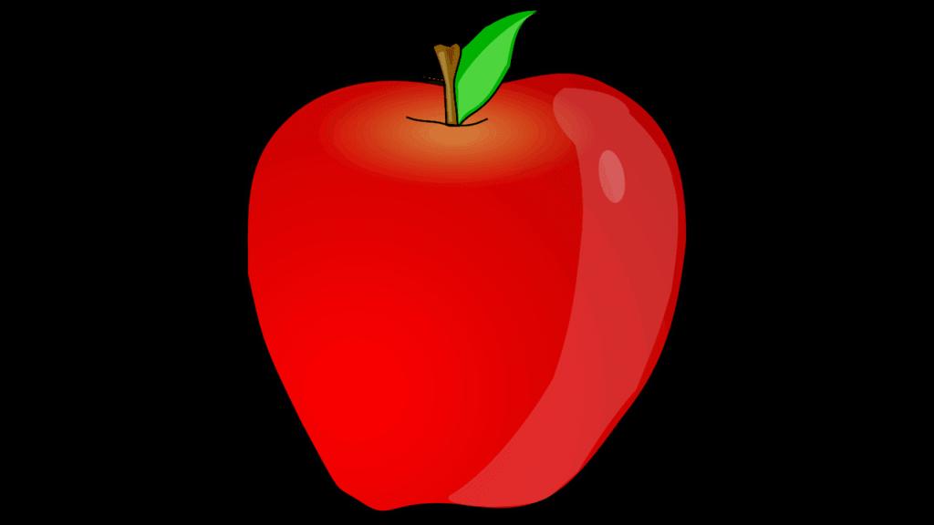 Fruit clipart stick. An apple picture clip