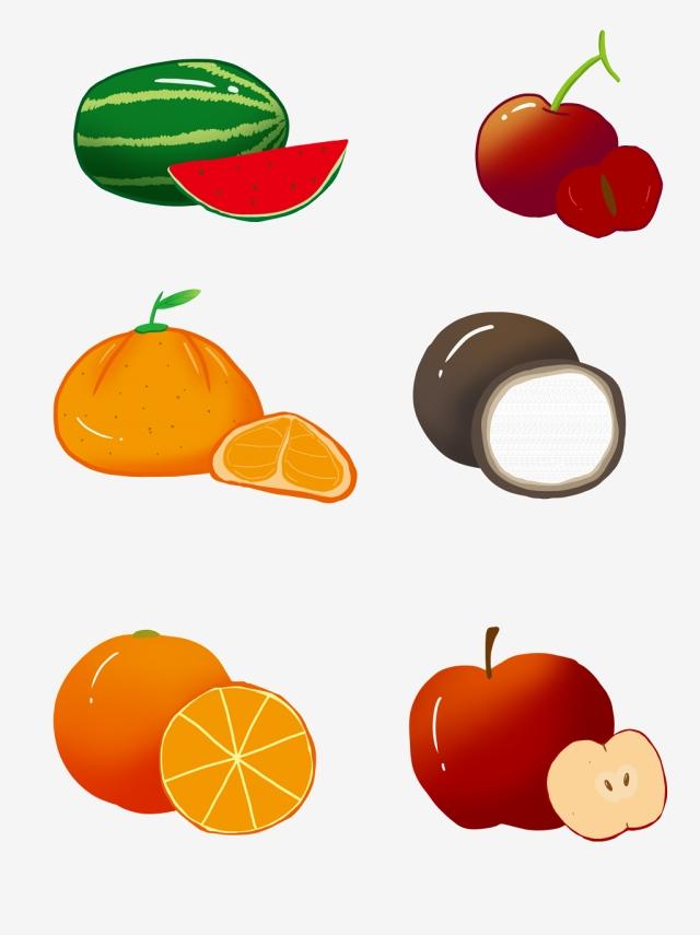 Various figure icons apple. Fruit clipart stick