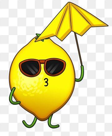lemon cartoon food. Fruit clipart summer season