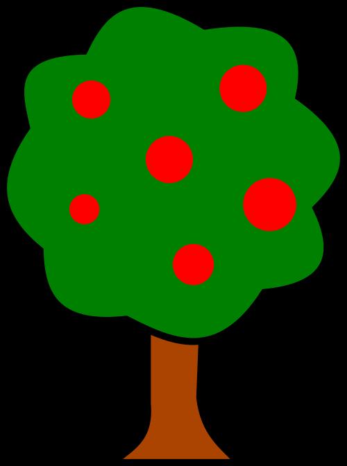 Krzysiu net public domain. Fruit clipart tree