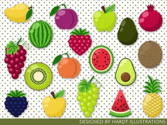 Fruits clipart tropical fruit. Clip art tutti frutti