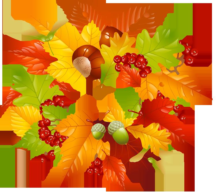 Fall leaves clip art. Fruit clipart wreath