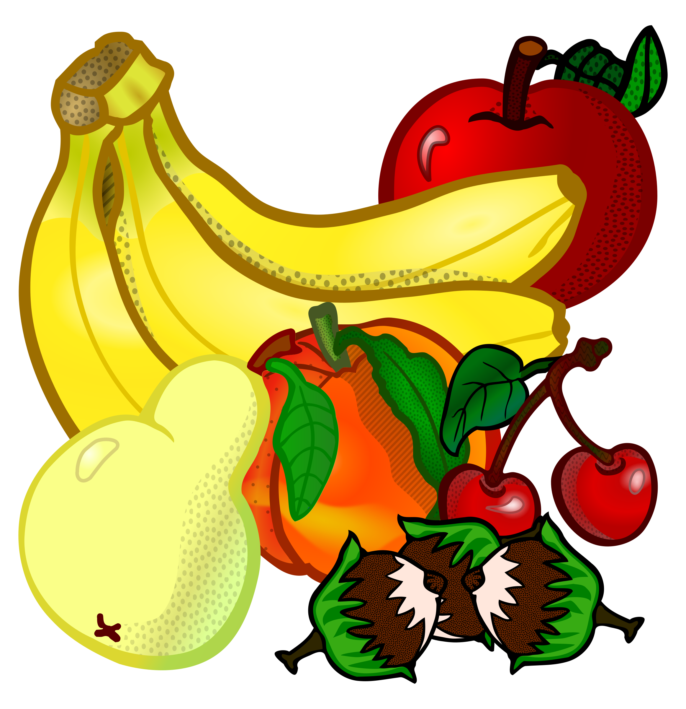 Coloured big image png. Fruits clipart