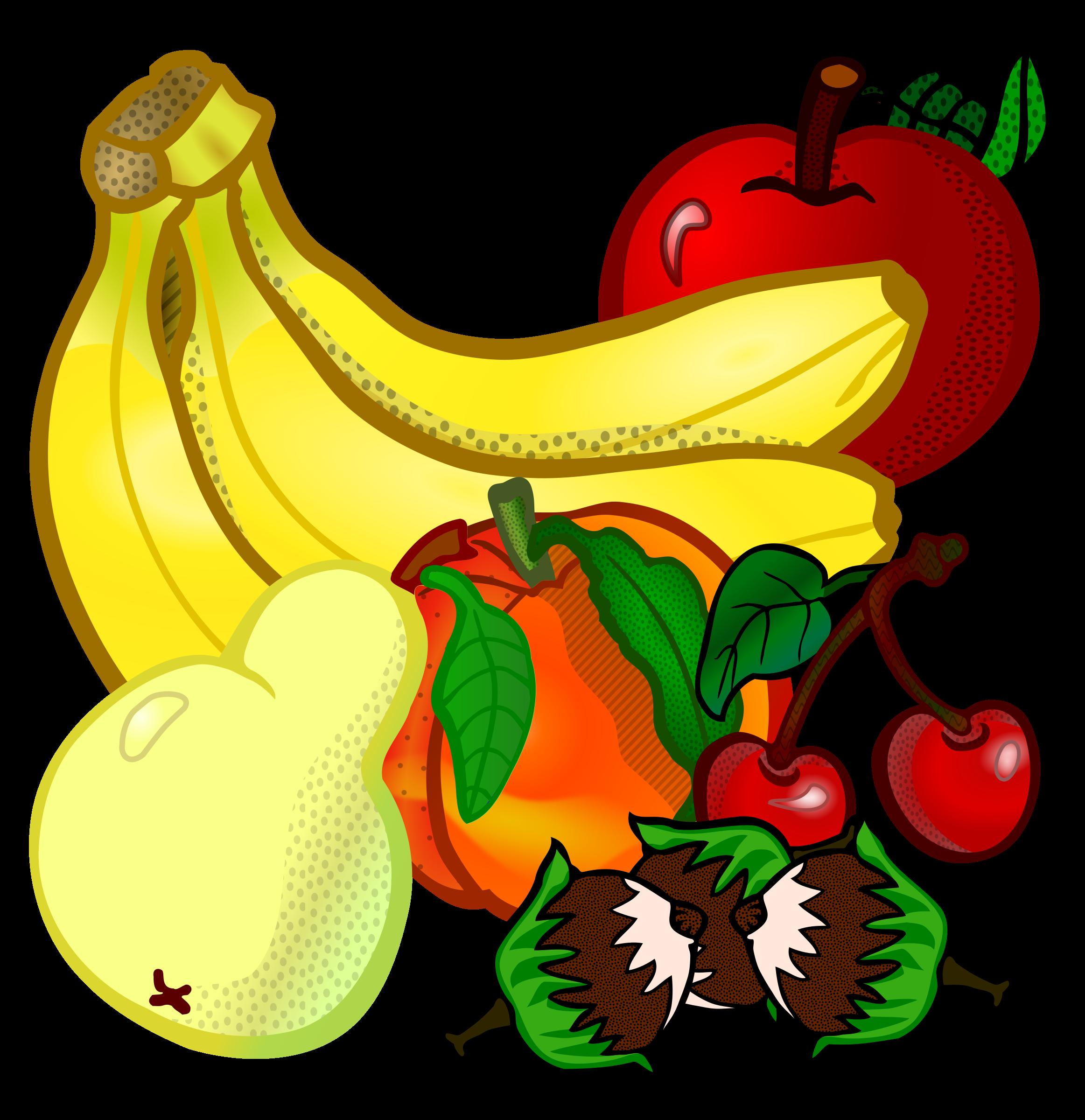 I clipart fruit. Fruits coloured big image