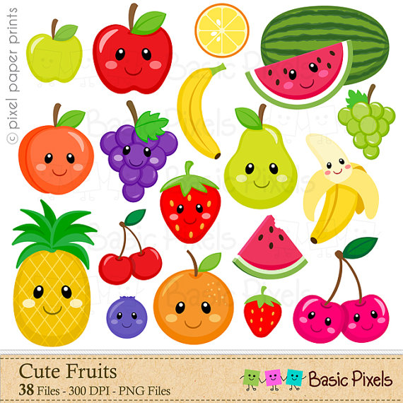 Digital clip art fruit. Fruits clipart