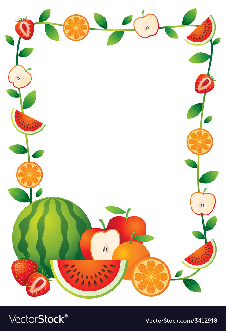 Fruits clipart borders. Fruit border making the