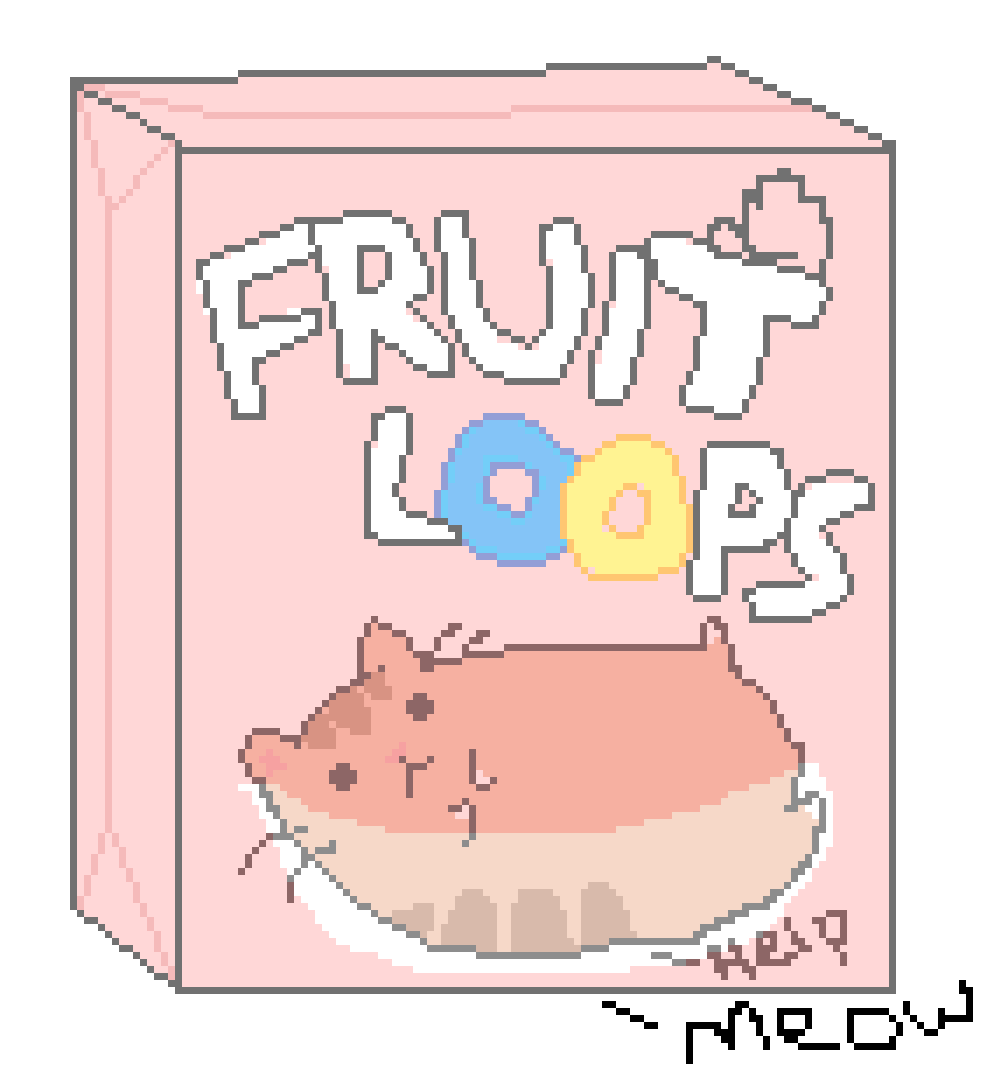 Fruits clipart cereal. Pixilart kitty stuck in