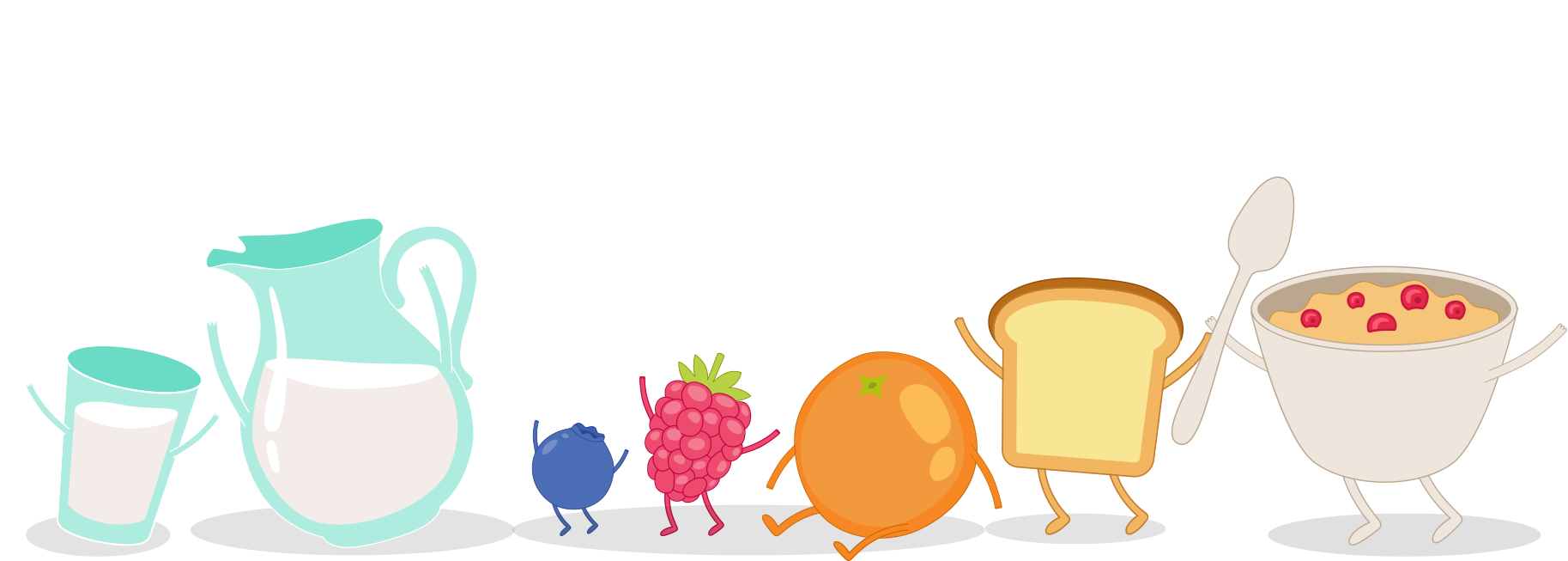 Fruits clipart cereal. Breakfast with fruit daifressh