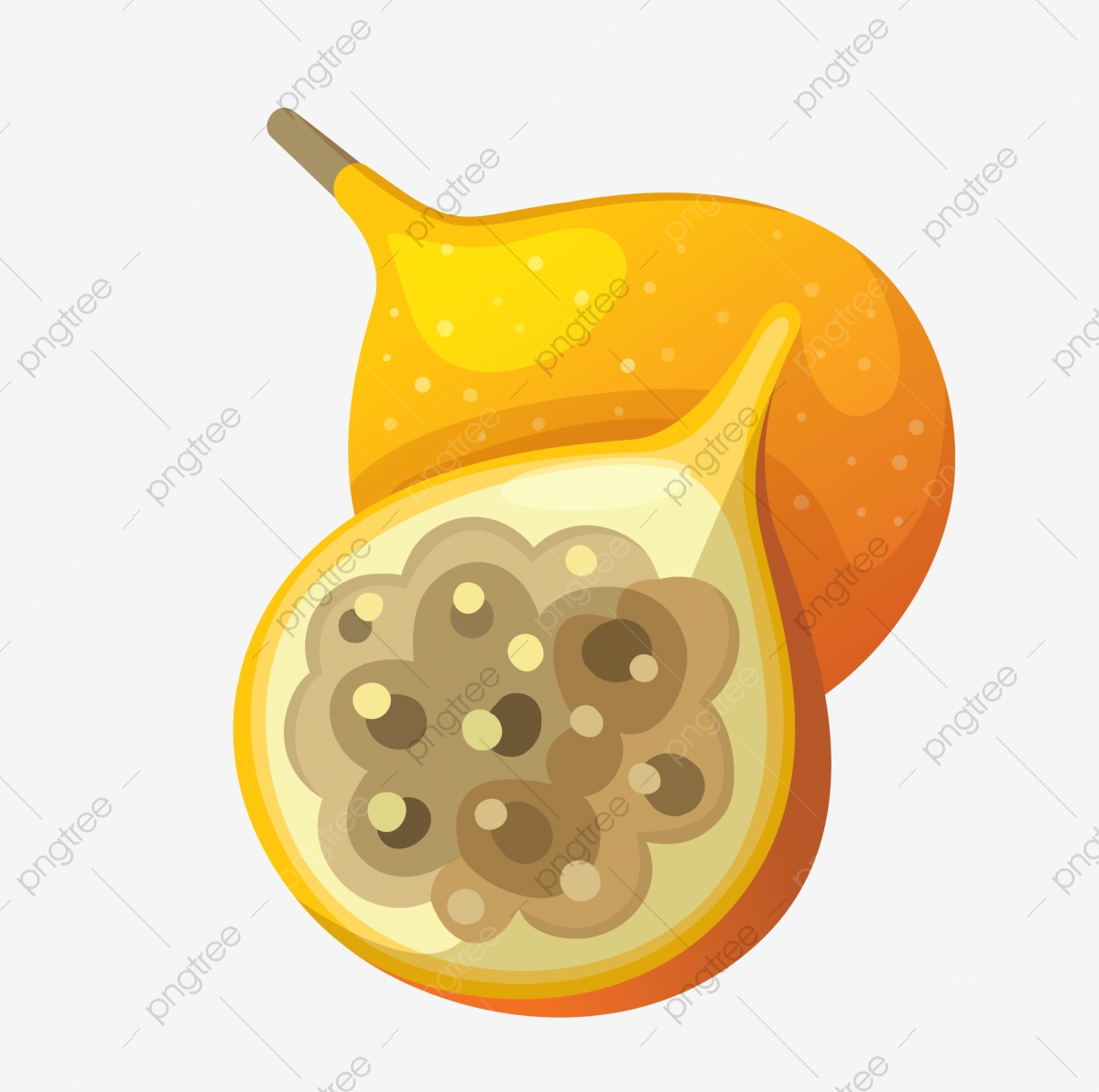 Fruit passion passionflower summer. Fruits clipart egg