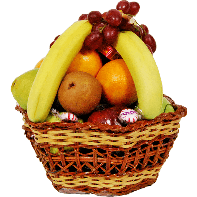 Fruits clipart fruit tray. And veggie basket credainatcon