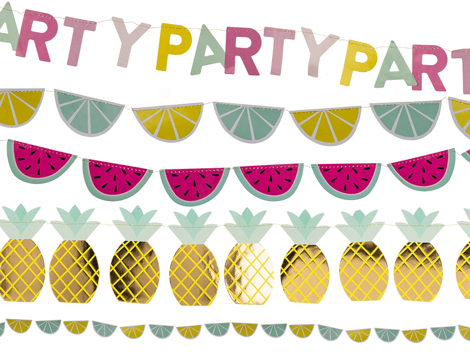 Out of the blue. Fruits clipart garland