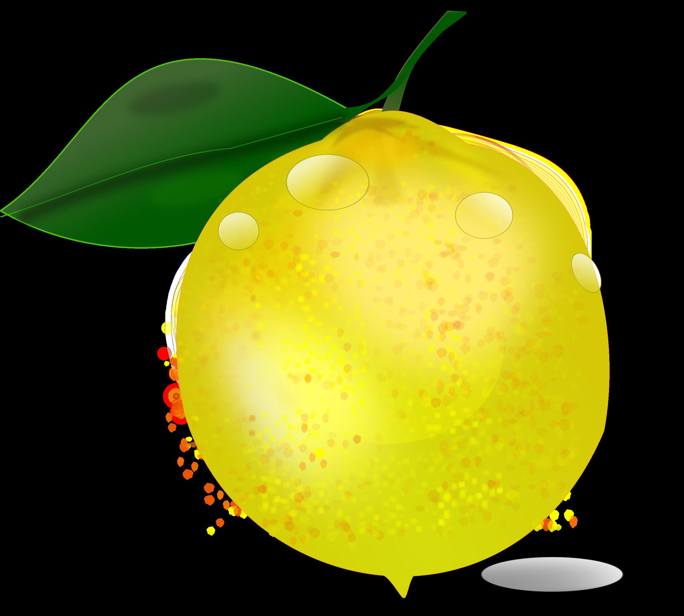 Lemon photorealistic big image. Pear clipart pear slice
