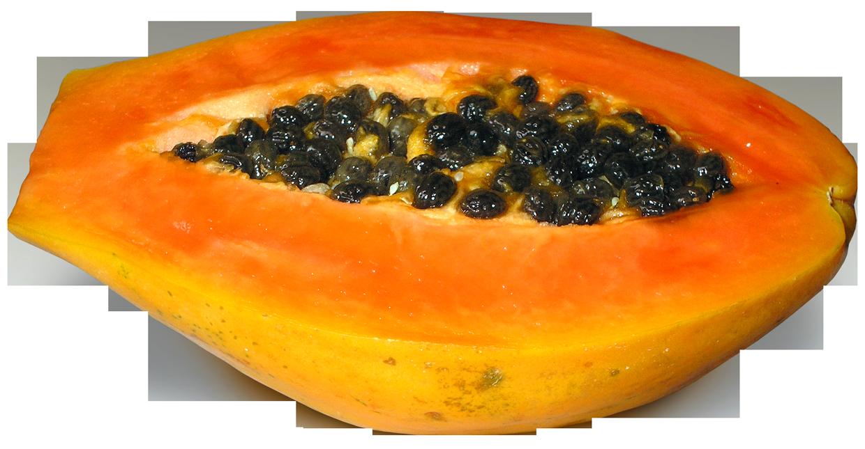 Fruits clipart paw paw. Half cut papaya png