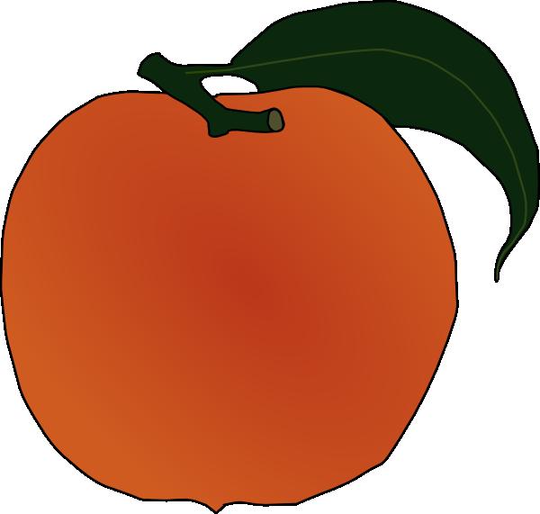Clip art at clker. Peach clipart peach fruit