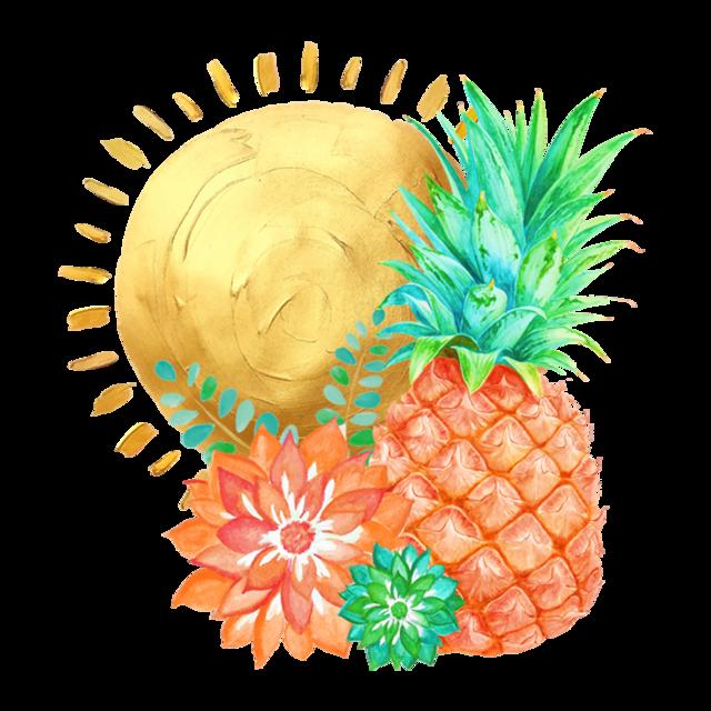 Fruits clipart pineapple. Coastal beachy women s