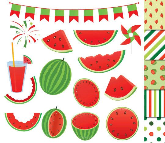 Pin on etsy digital. Watermelon clipart party