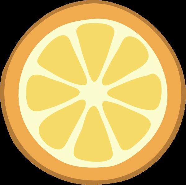 Fruits clipart silhouette. Rondelle orange clip art
