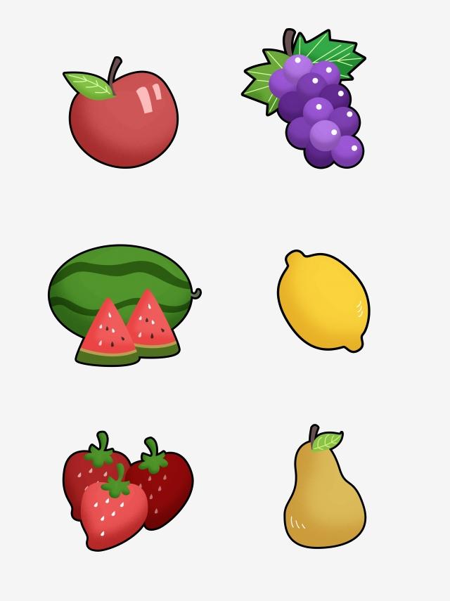 Fruits clipart stick. Figure coloring cartoon fruit