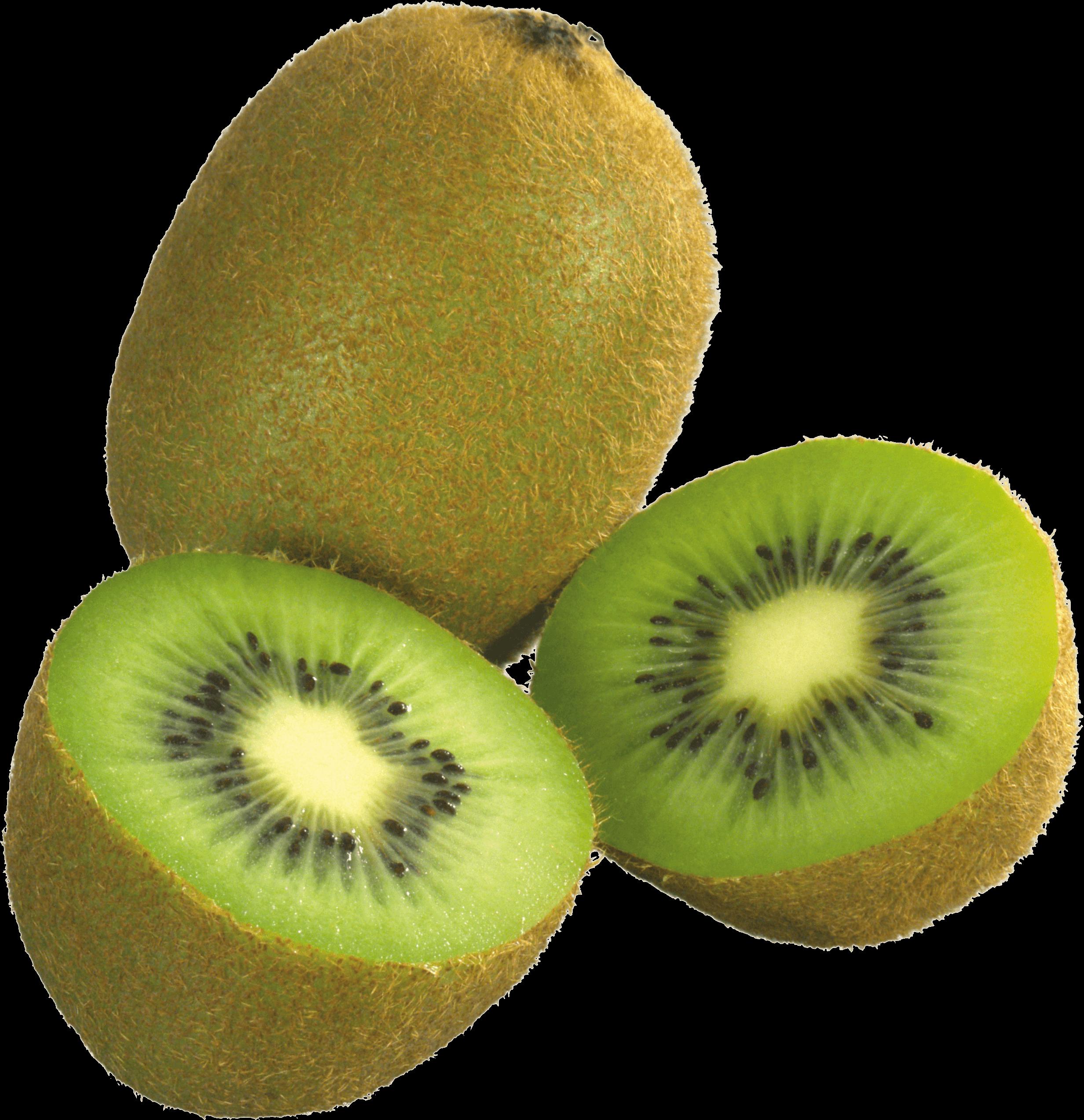 Kiwi clipart kind fruit. Three kiwis transparent png