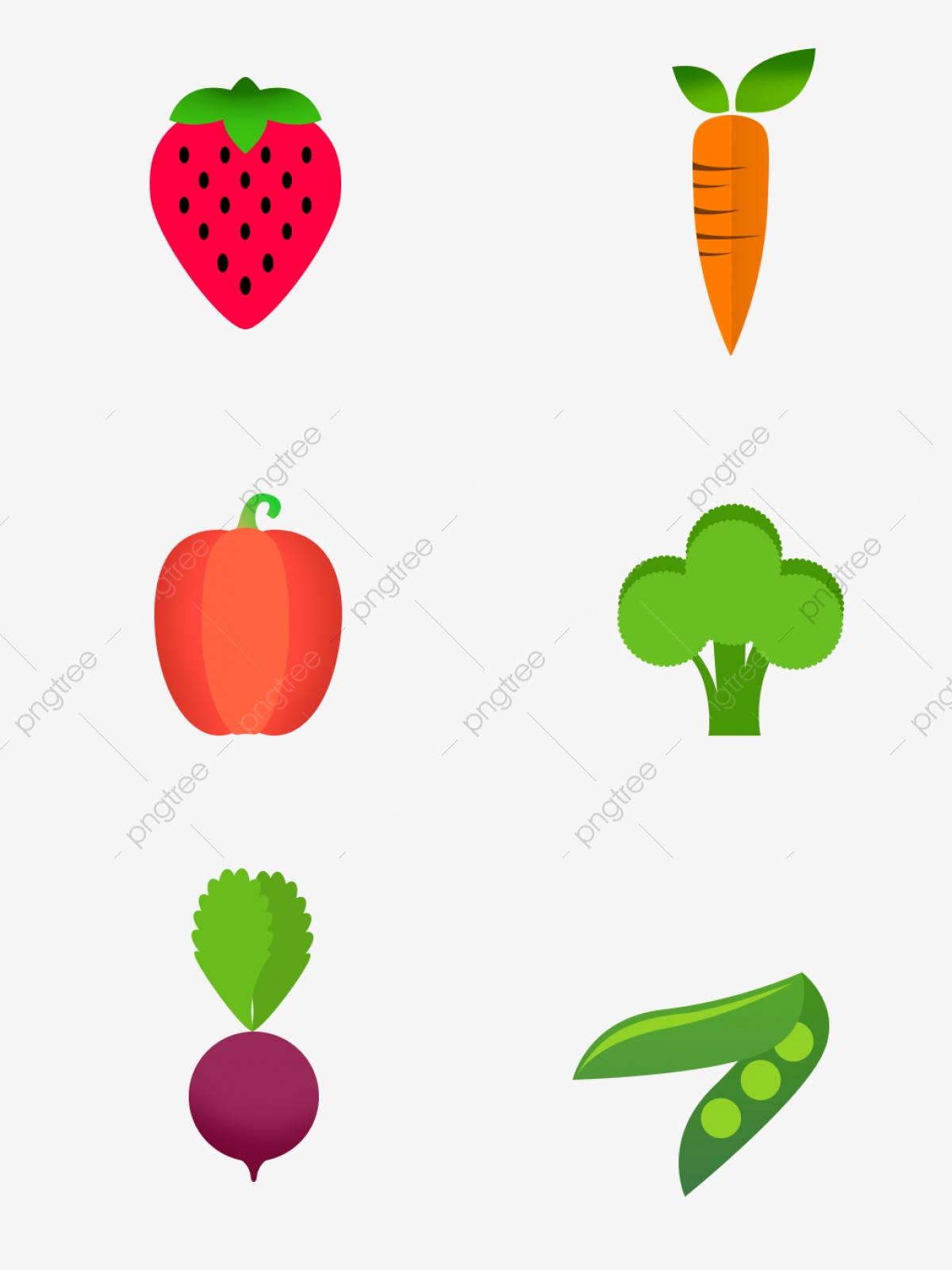 Fruit and vegetable figure. Fruits clipart stick