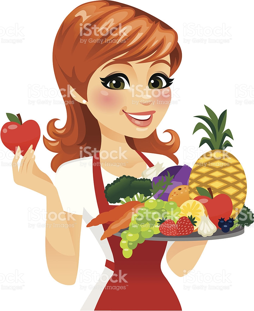 And women . Fruits clipart woman