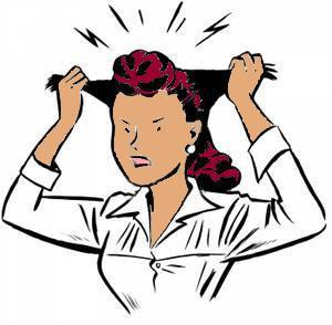 Frustrated clipart. Woman
