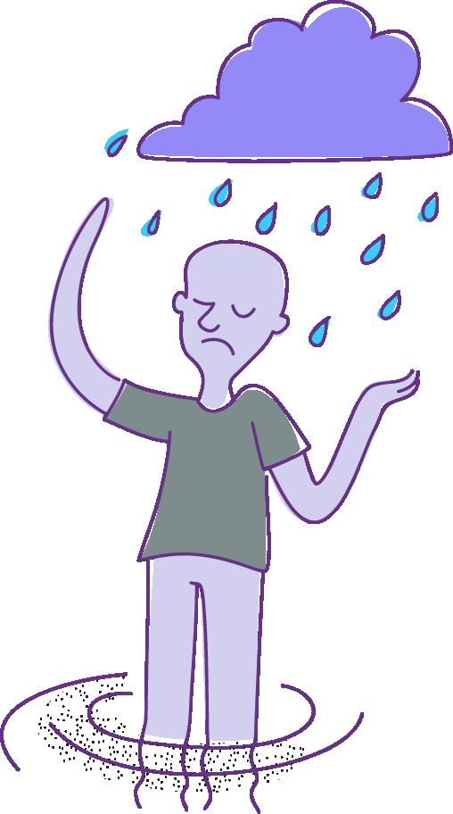 Trastorno de generalizada tratamiento. Frustrated clipart ansiedad