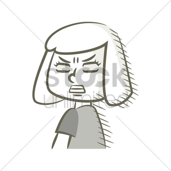 Frustrated clipart black and white. Angry face cartoon drawing
