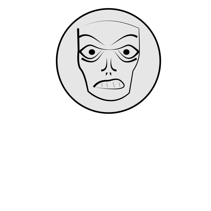 Frustrated clipart black and white. Free picture of a