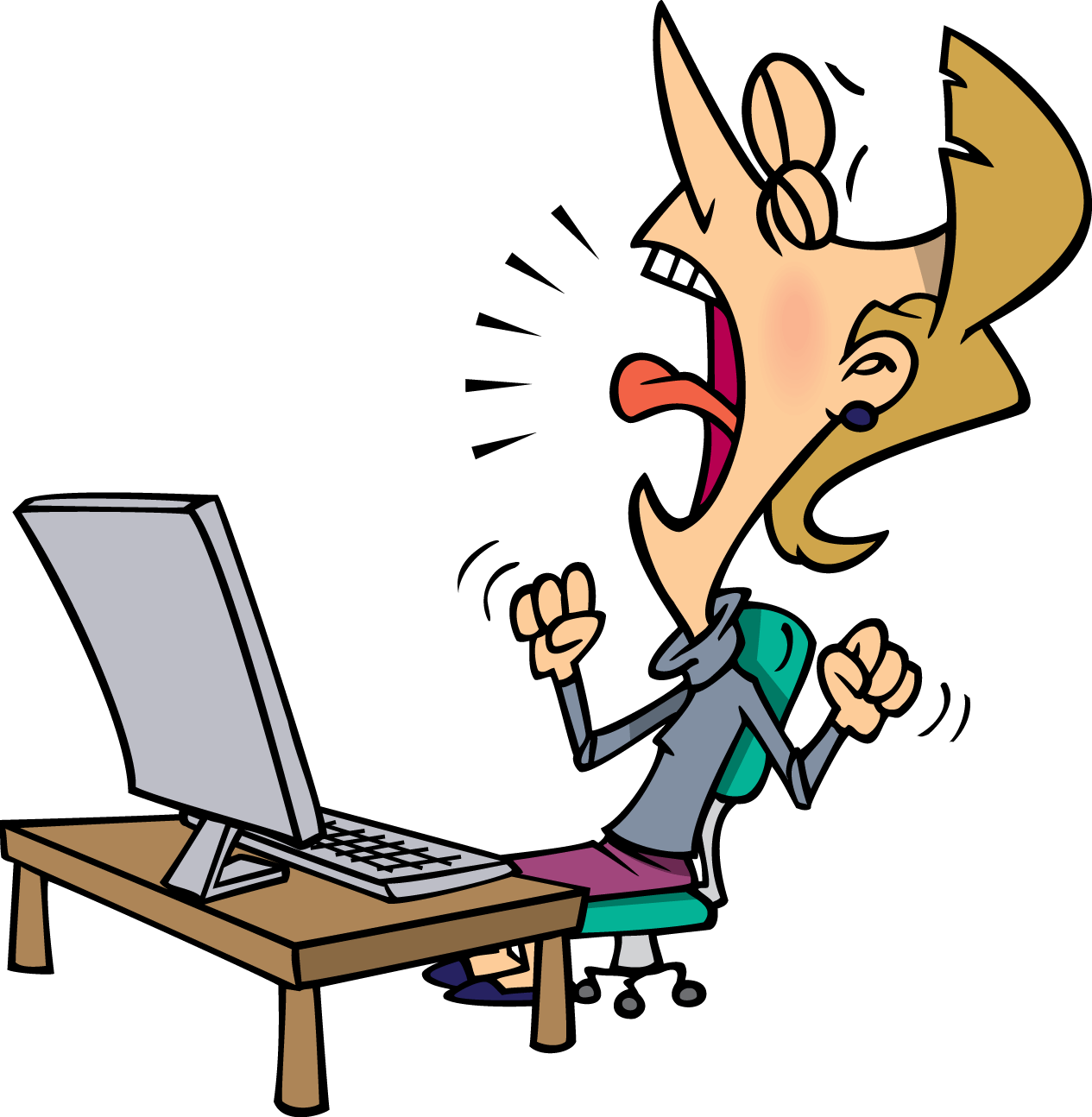 Frustrated clipart female. Collection of free computer