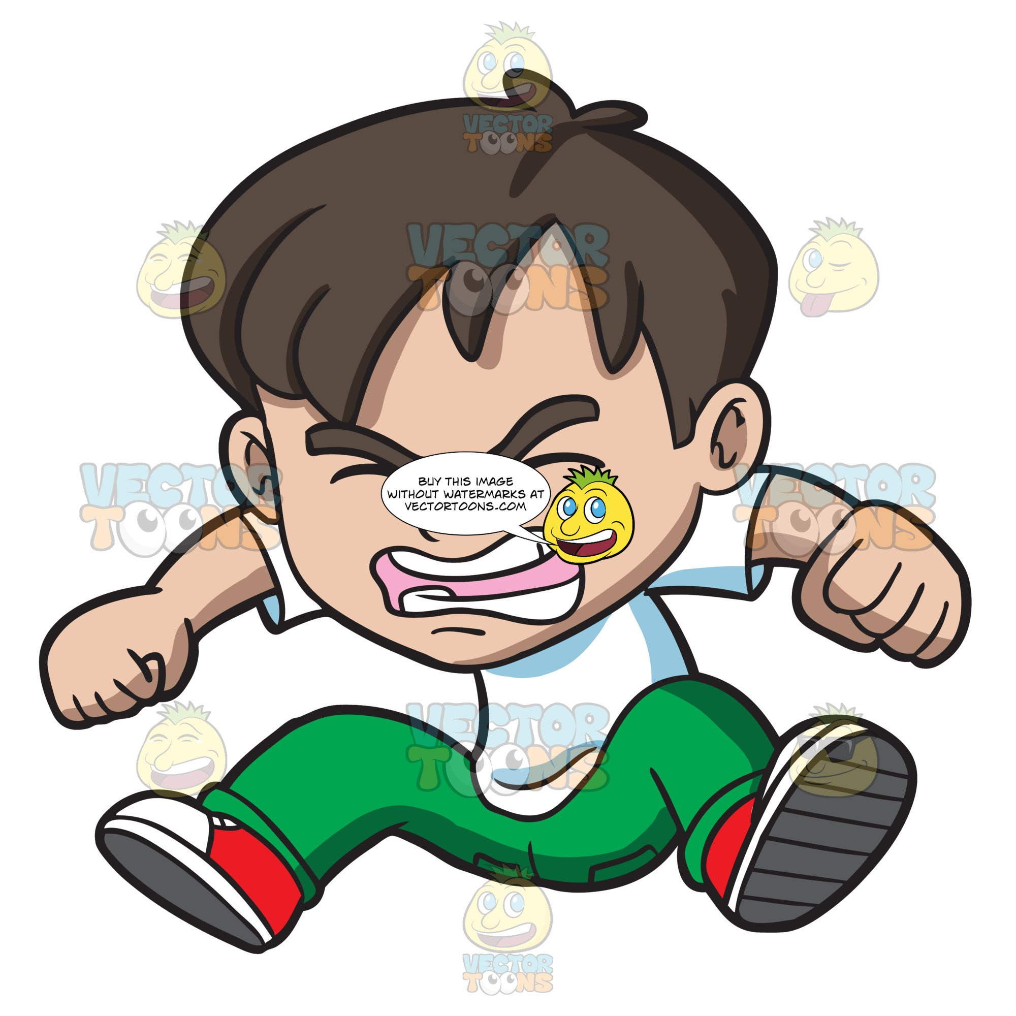 An angry little boy. Frustrated clipart frustrated child
