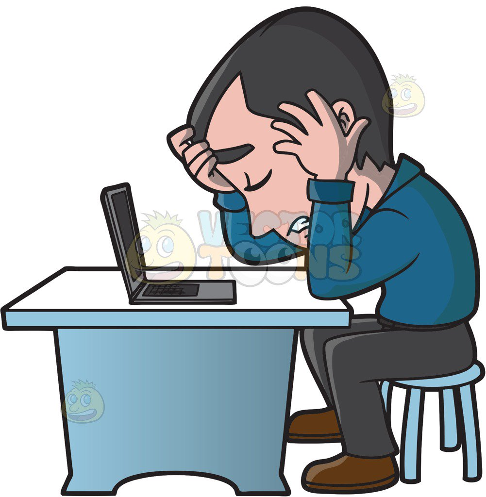 Frustrated clipart frustrated employee. Free download best