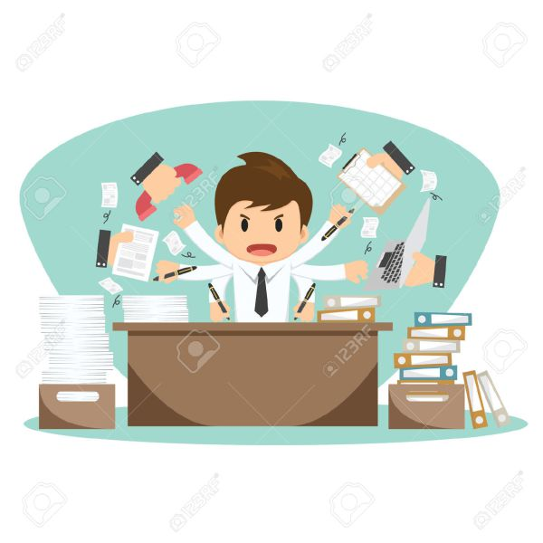 Station . Frustrated clipart frustrated office worker