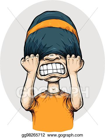 Frustrated clipart frustration face. Vector stock toque illustration