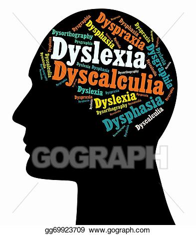 Stock illustrations dyslexia disabilities. Study clipart learning disability
