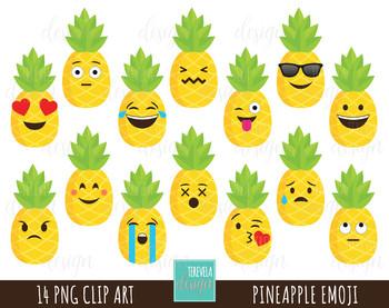 sale pineapple emoji. Fun clipart