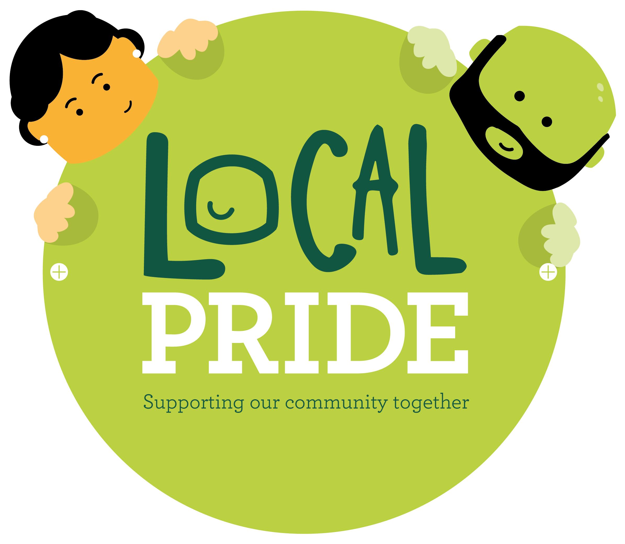 Local pride online fundraising. Fundraiser clipart 100 square
