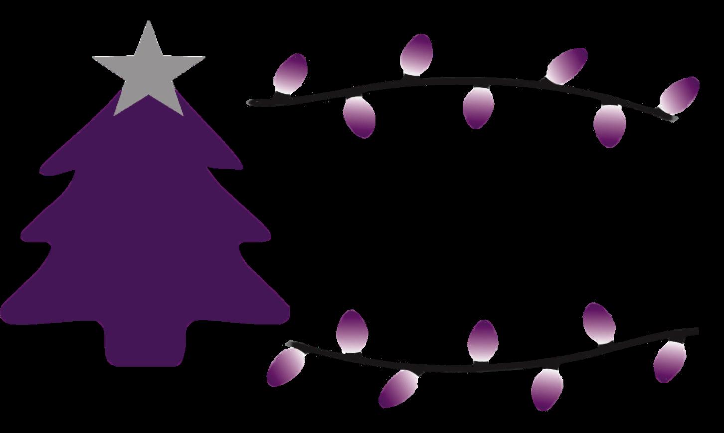 Spotlights on the tree. Fundraising clipart church treasurer