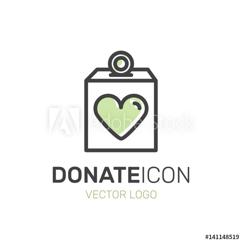 Fundraiser clipart clothes donation. Vector illustration icon graphic