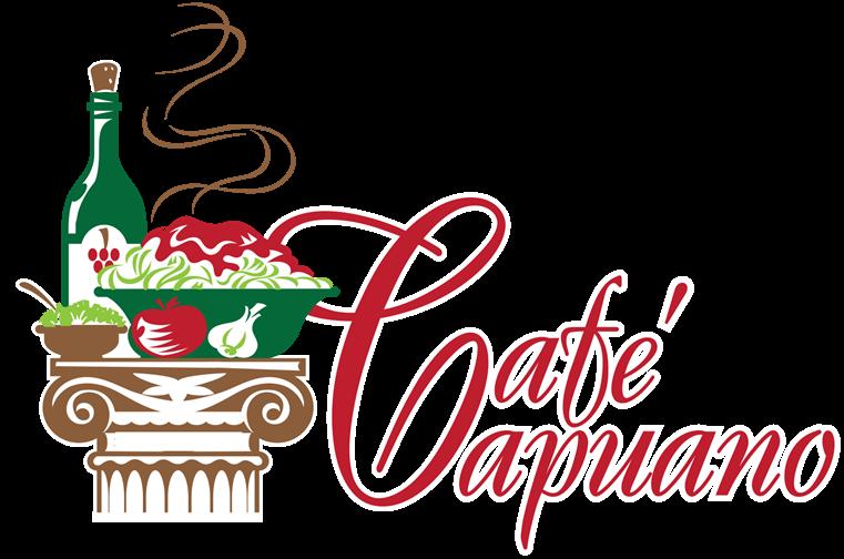 Cafe capuano menu. Fundraiser clipart lasagna dinner