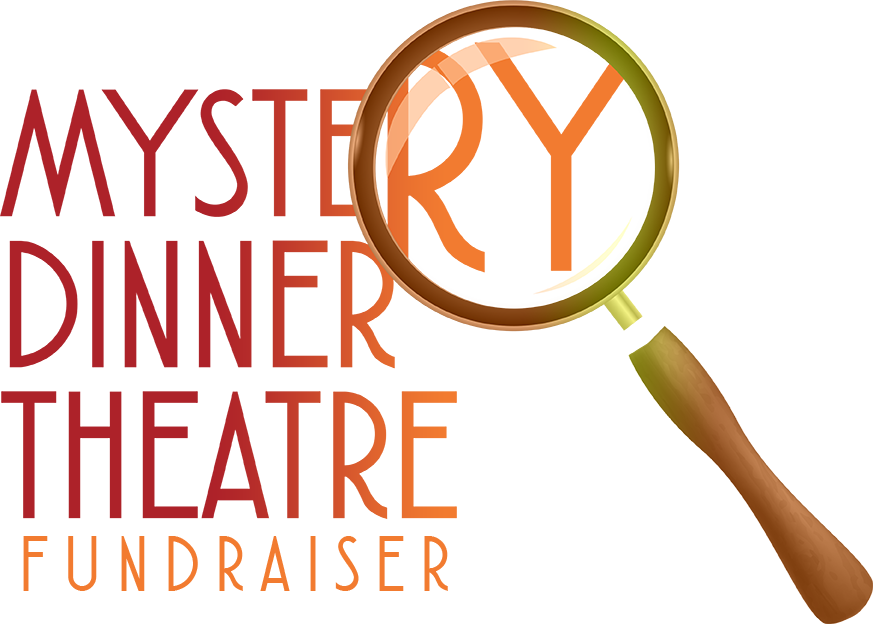 Mystery dinner theatre square. Fundraiser clipart lunch party