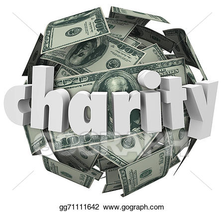 Fundraiser clipart paper money. Stock illustration charity ball