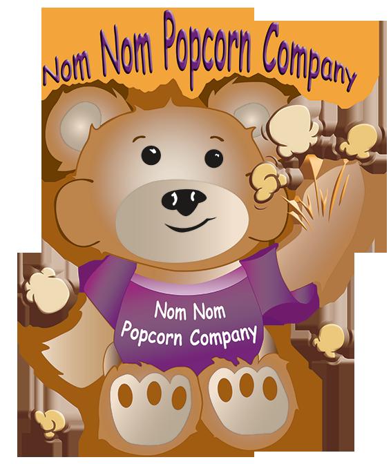 Nom company helps support. Fundraiser clipart popcorn