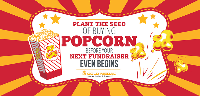 Plant the seed of. Fundraiser clipart popcorn